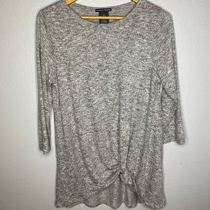 Chelsea & Theodore Blk/Gray Marble Sweater